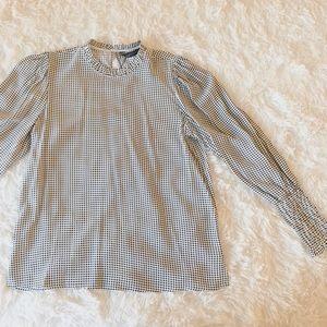 NWOT Zara black and white blouse